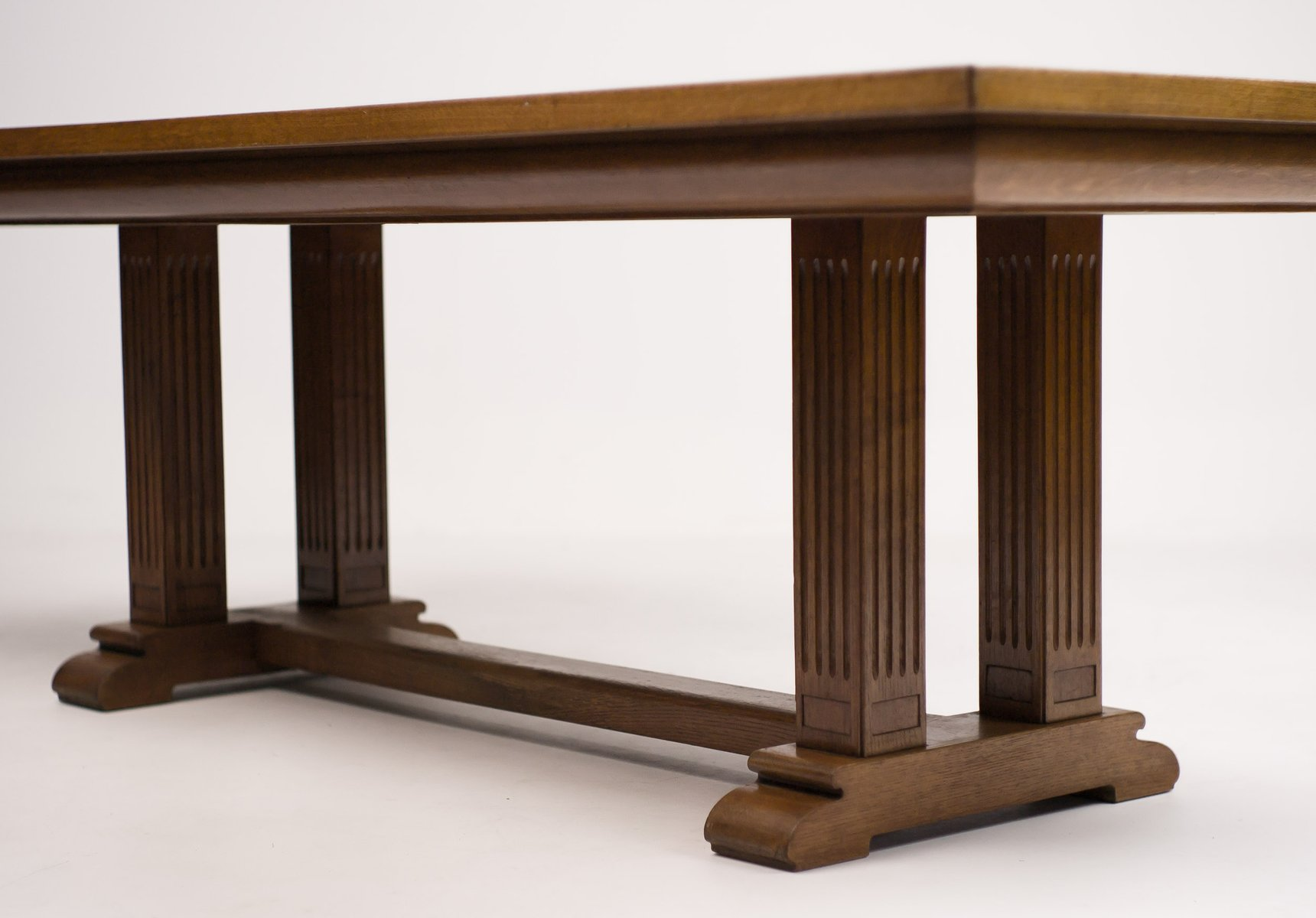Architectural oak dining table 1920s for sale at pamono for 1 oak nyc table prices