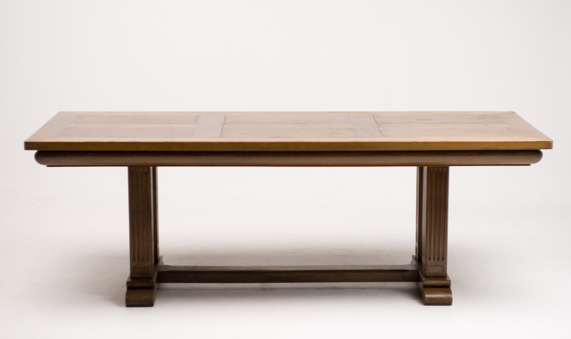 Architectural Oak Dining Table, 1920s for sale at Pamono