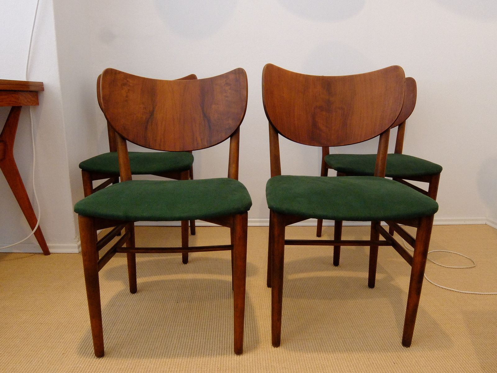 Danish Walnut Dining Chairs by Eva & Nils Koppel for Slagelse