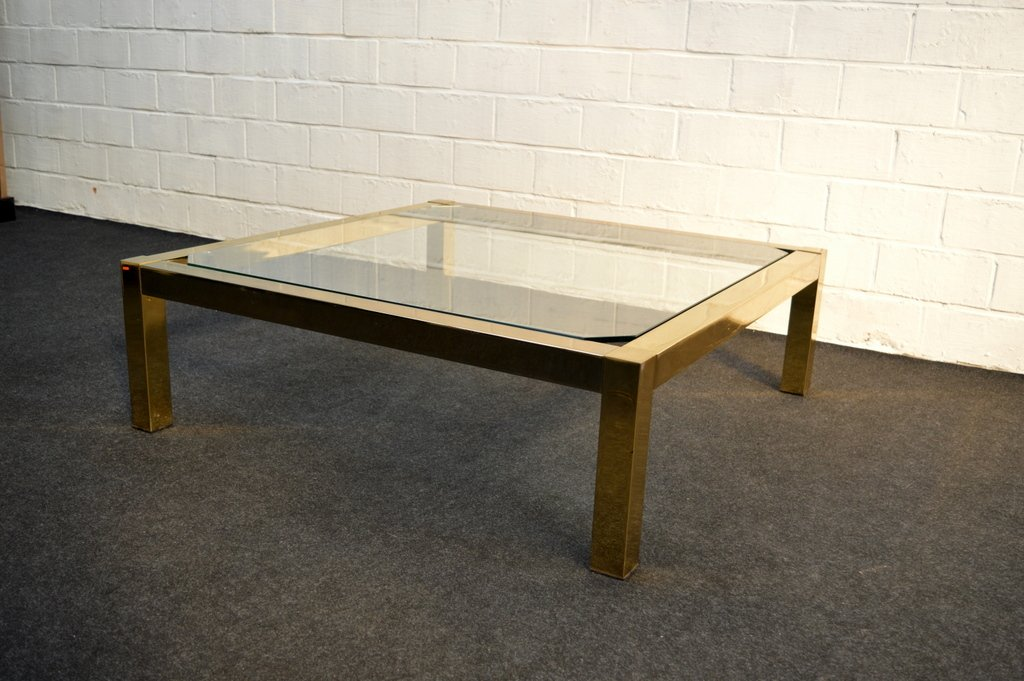 Vintage Gold Leaf Coffee Table From Belgochrom For Sale At Pamono
