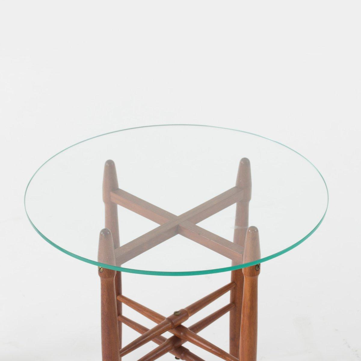 d nische glas mahagoni beistelltische von poul hundevad 1950er 2er set bei pamono kaufen. Black Bedroom Furniture Sets. Home Design Ideas