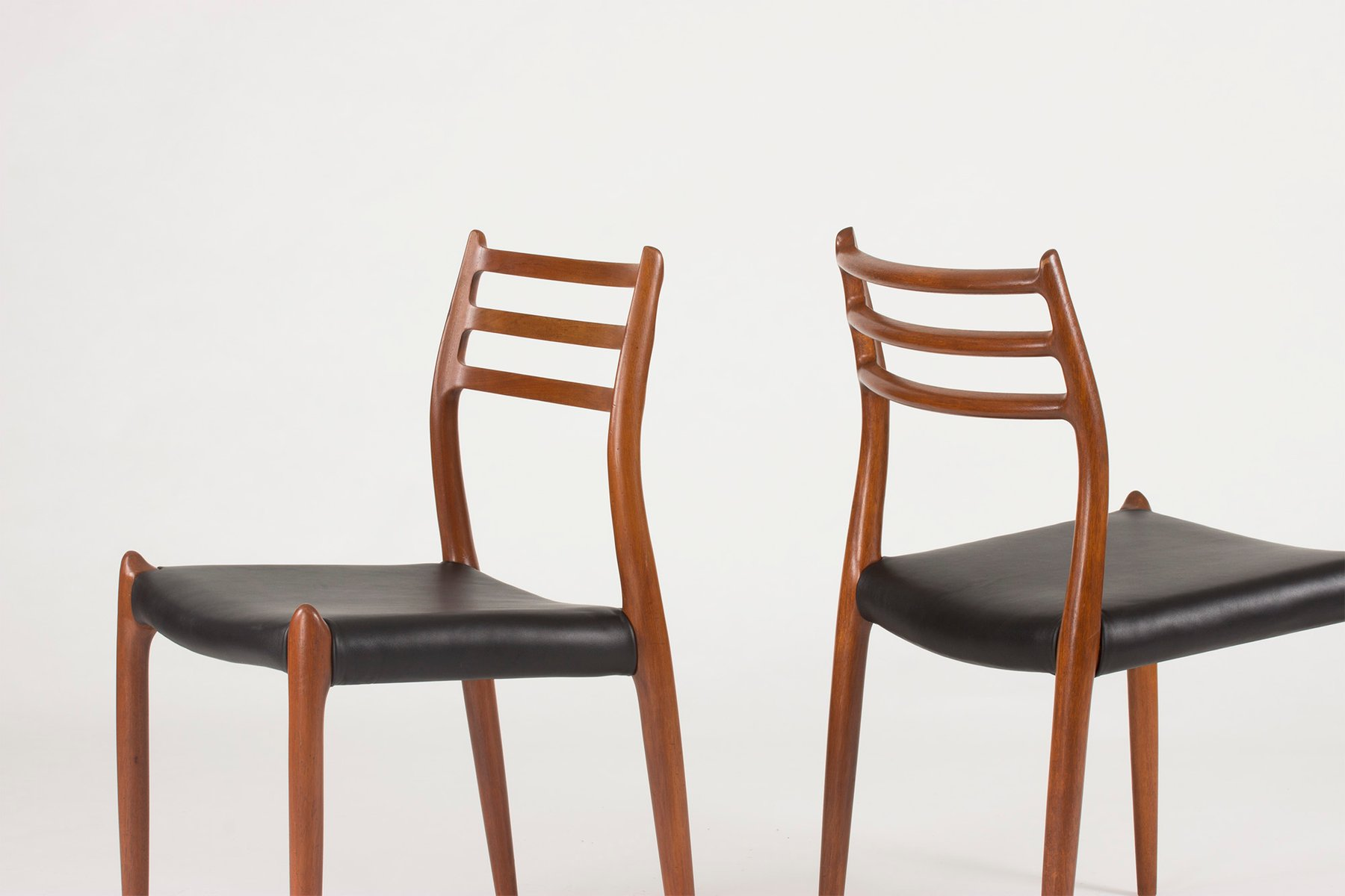 danish dining chairs by niels o m ller for j l m llers 1950s set