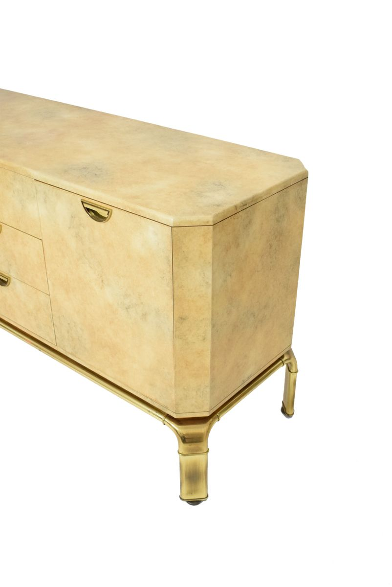 Mid Century Brass Waterfall Sideboard From John Widdicomb For Sale At Pamono