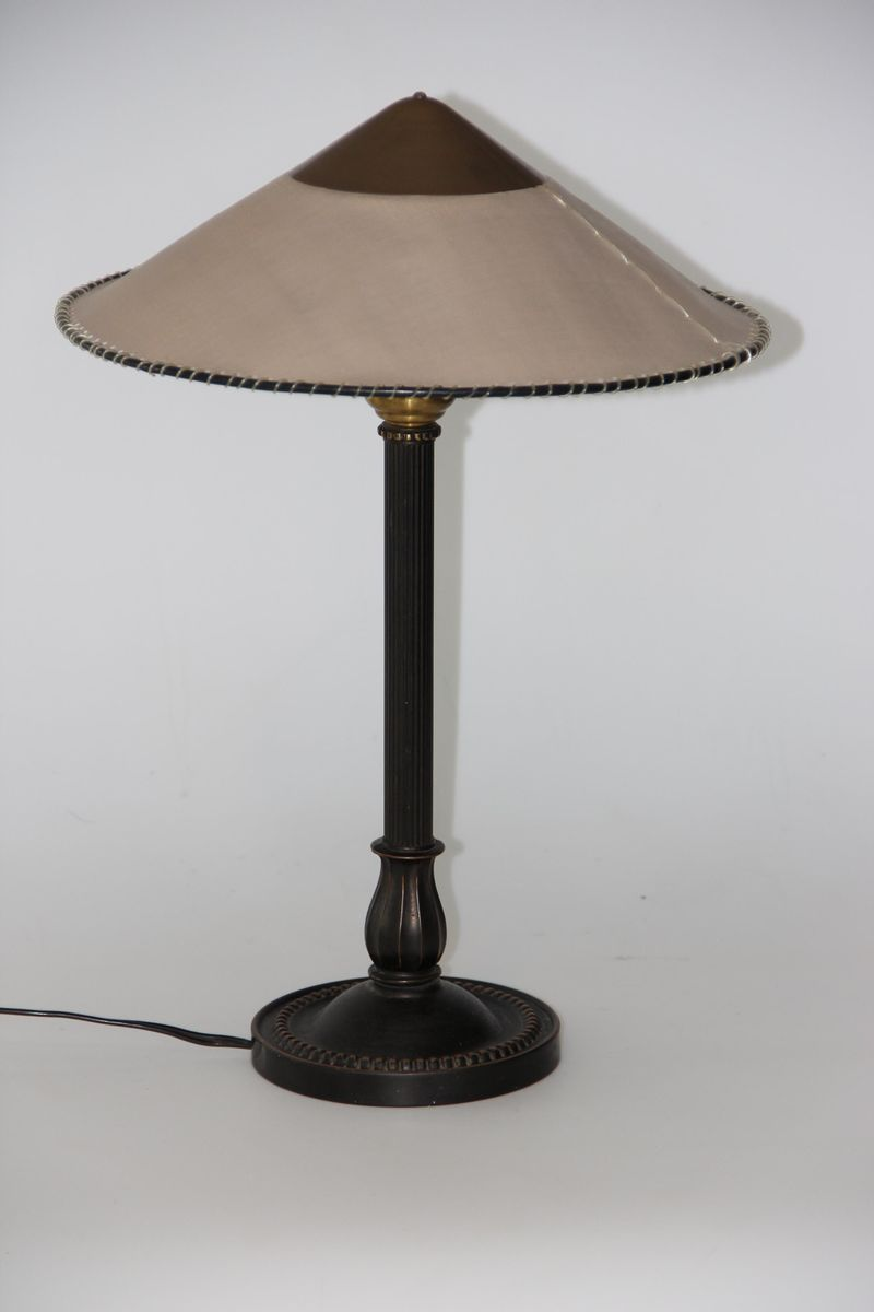 Vintage Brown Danish Table Lamp 1950s For Sale At Pamono