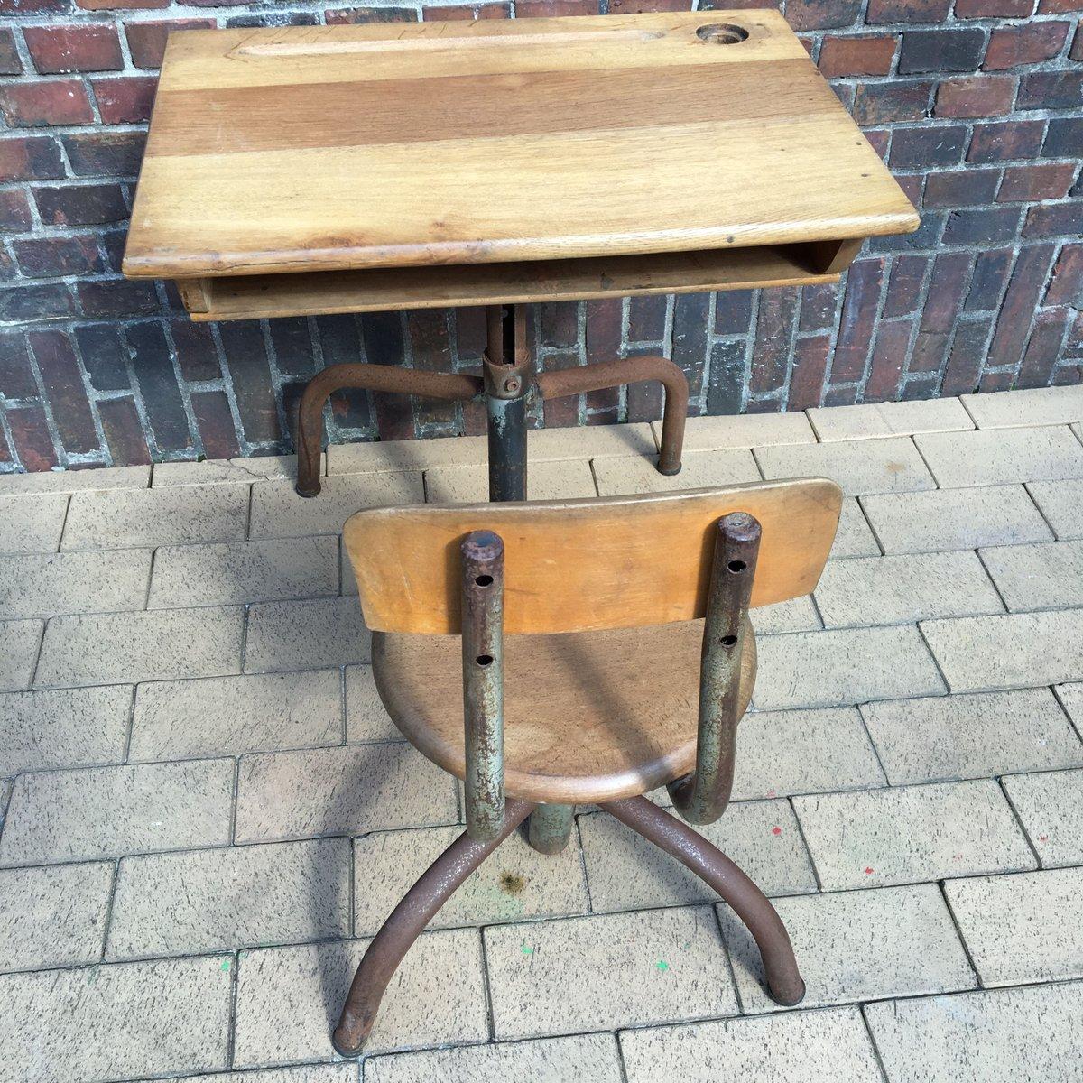 french vintage school desk 1960s for sale at pamono. Black Bedroom Furniture Sets. Home Design Ideas