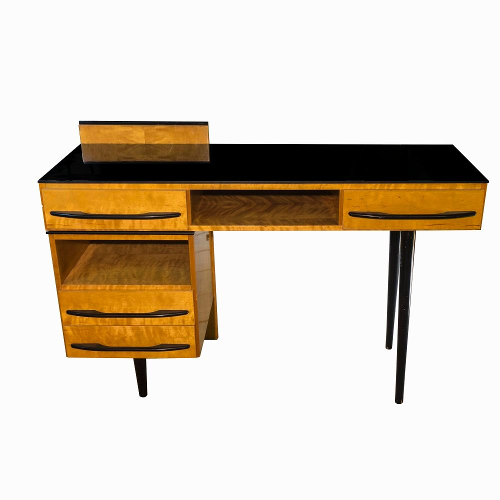 tschechischer mid century schreibtisch mit stuhl 1960er. Black Bedroom Furniture Sets. Home Design Ideas