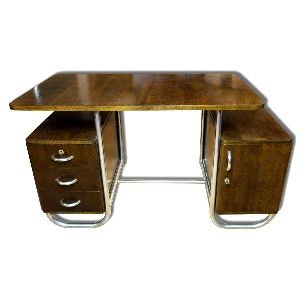 tschechischer bauhaus schreibtisch aus buche 1930er bei. Black Bedroom Furniture Sets. Home Design Ideas