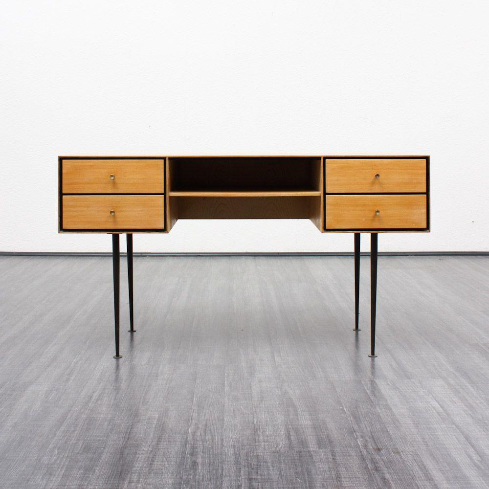 frisiertisch mit trapezf rmigem spiegel 1960er bei pamono kaufen. Black Bedroom Furniture Sets. Home Design Ideas