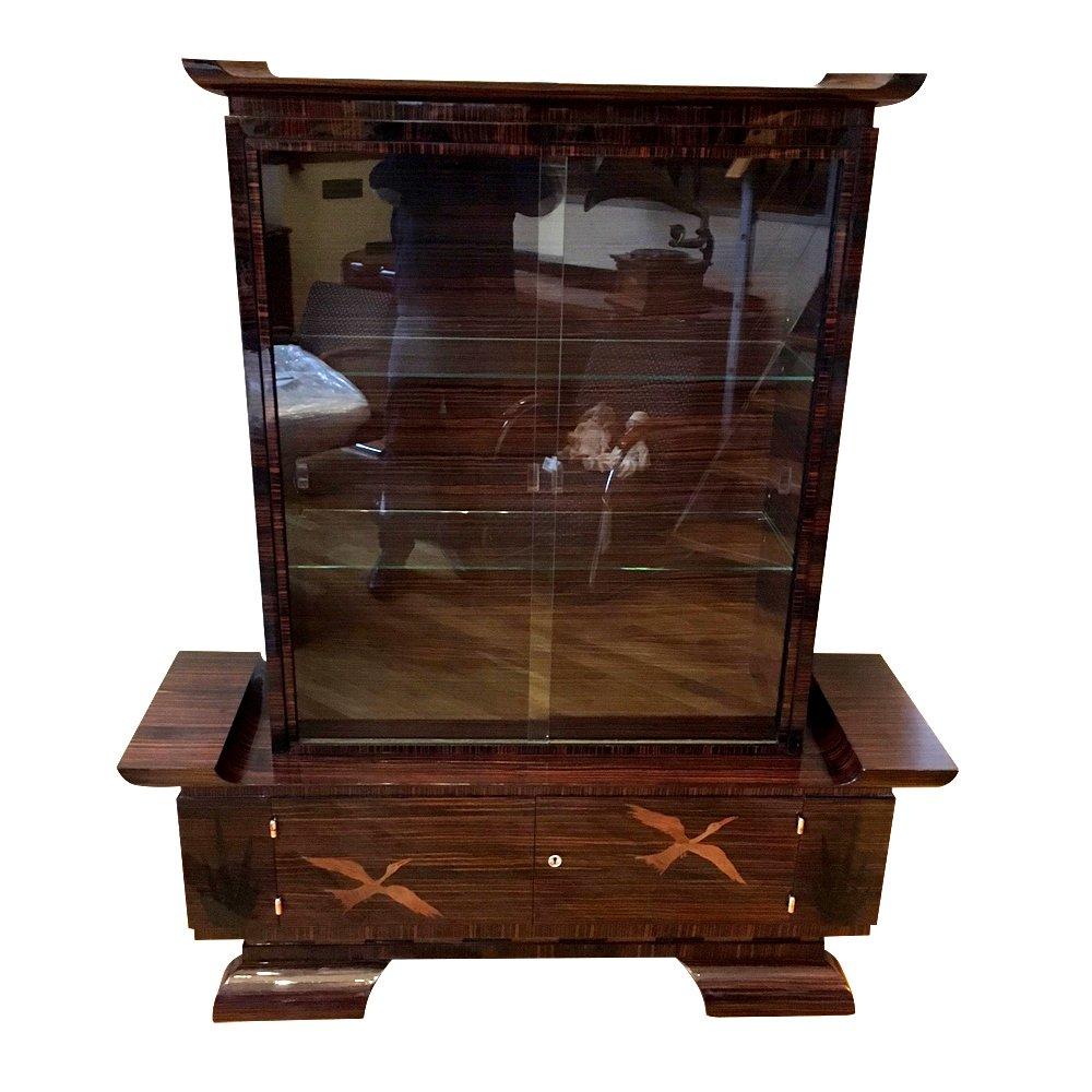 vintage art deco bookcase for sale at pamono. Black Bedroom Furniture Sets. Home Design Ideas