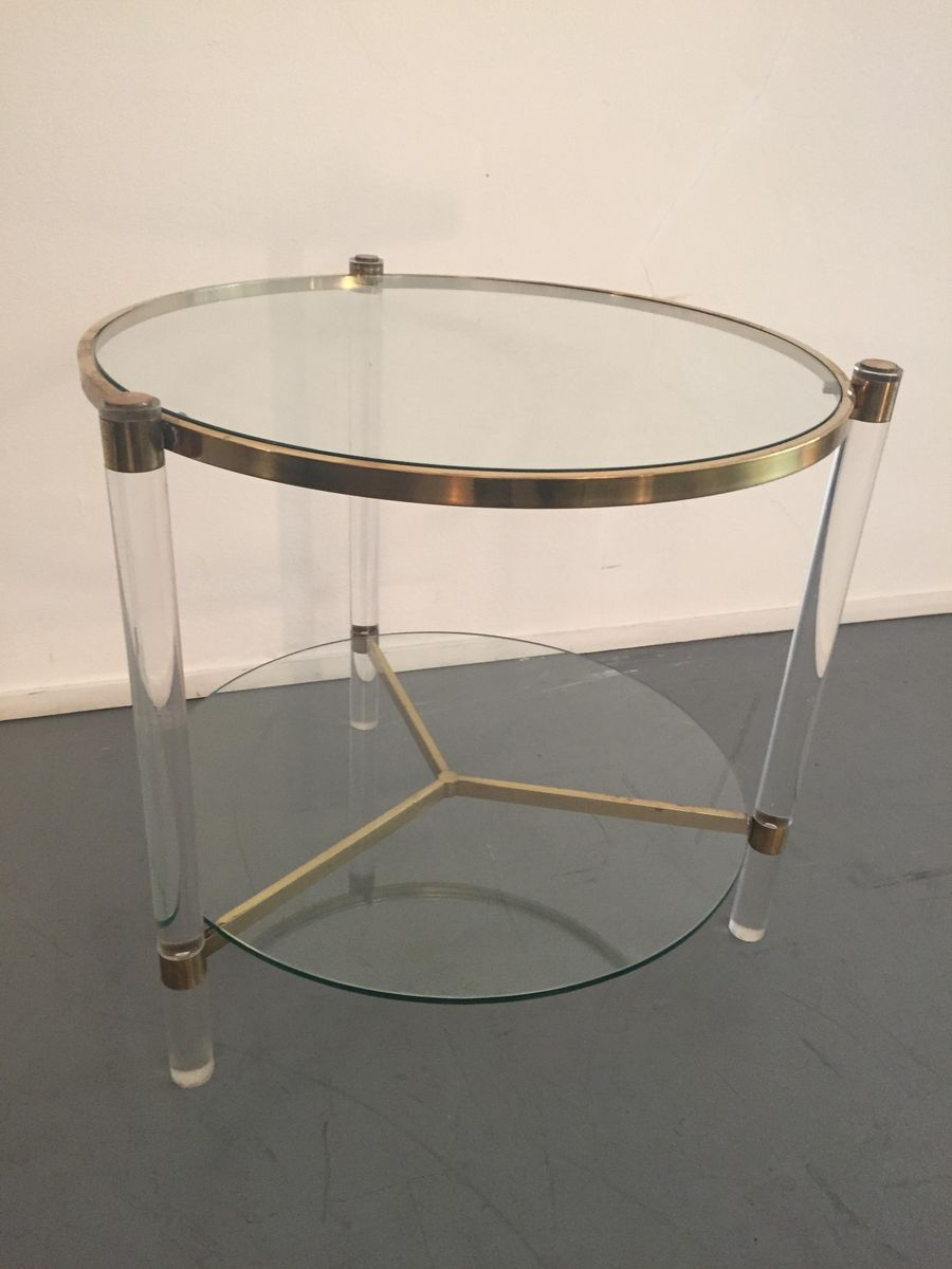 Table basse pliante plexiglas - Table basse en plexi ...