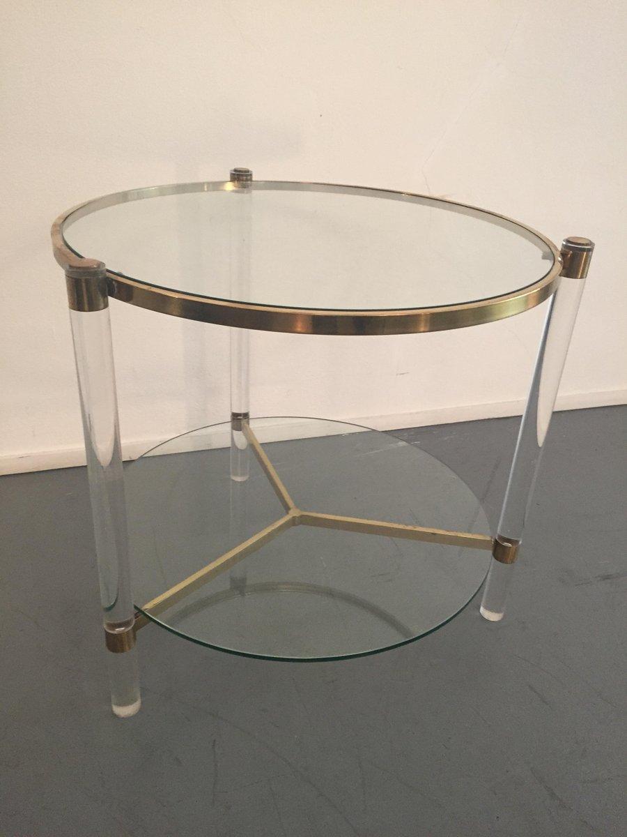 table basse en laiton et en plexiglas 1970s en vente sur pamono. Black Bedroom Furniture Sets. Home Design Ideas