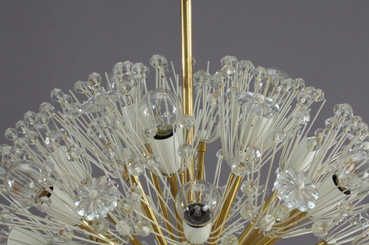 elegant grand lustre boule de neige par emil stejnar pour robert nikoll with lustre boule cristal. Black Bedroom Furniture Sets. Home Design Ideas