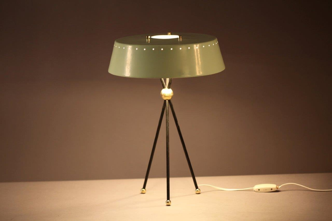 Mint Green Italian Tripod Table Lamp 1950s For Sale At Pamono