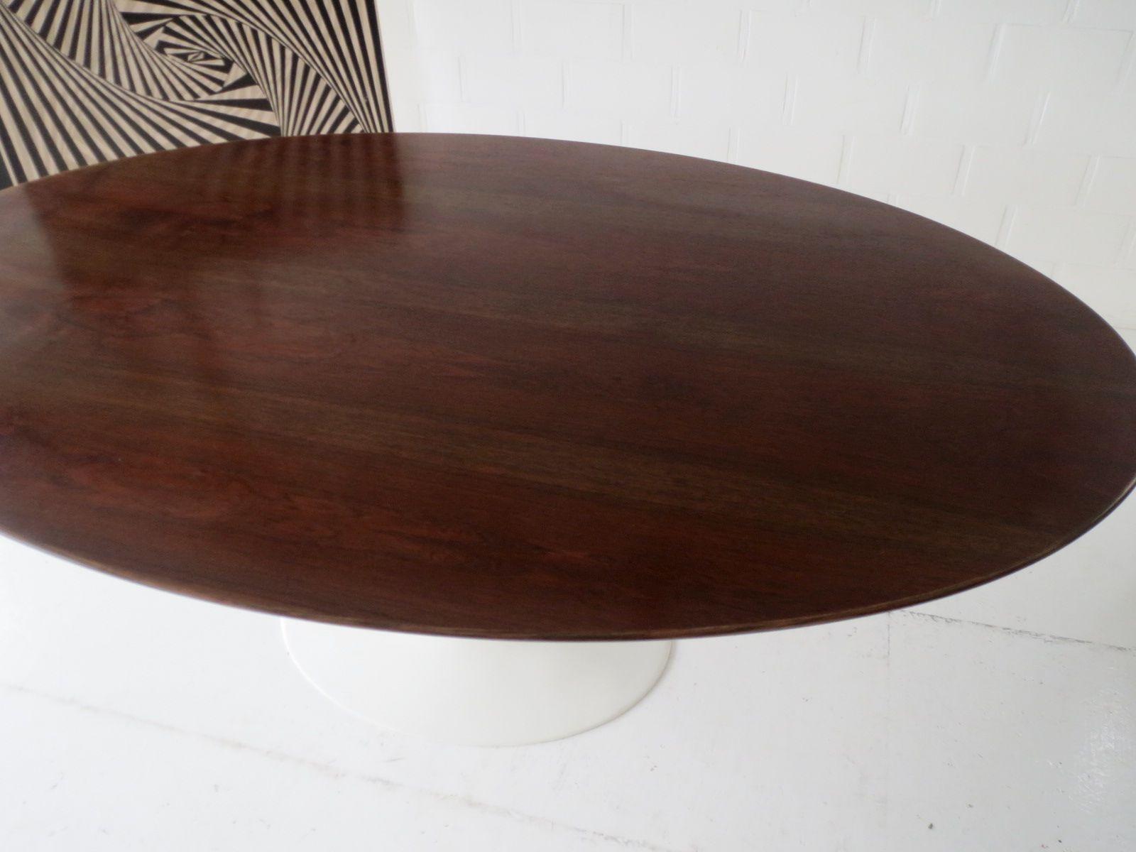 ovaler esstisch aus rio palisander von eero saarinen f r knoll international 1970er bei pamono. Black Bedroom Furniture Sets. Home Design Ideas