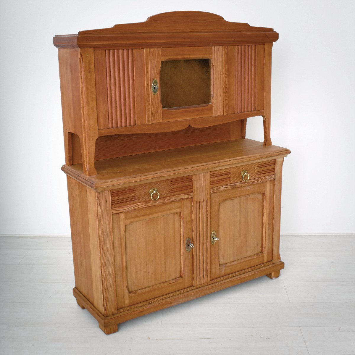 small art nouveau pine kitchen buffet 1920s for sale at pamono. Black Bedroom Furniture Sets. Home Design Ideas