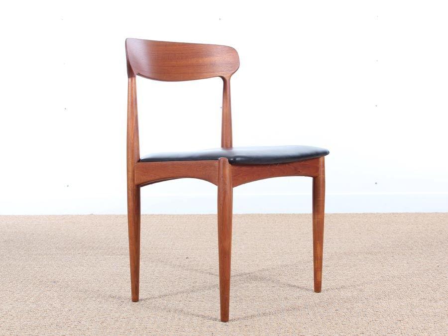 skandinavische teakholz st hle von johannes andersen f r. Black Bedroom Furniture Sets. Home Design Ideas