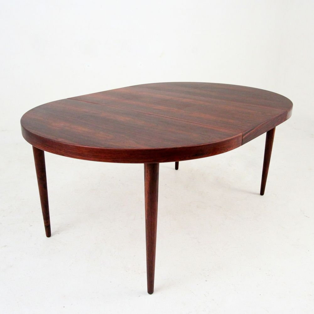 Rosewood Dining Table Mid Century Round Extendable Rosewood Dining Table By Kai