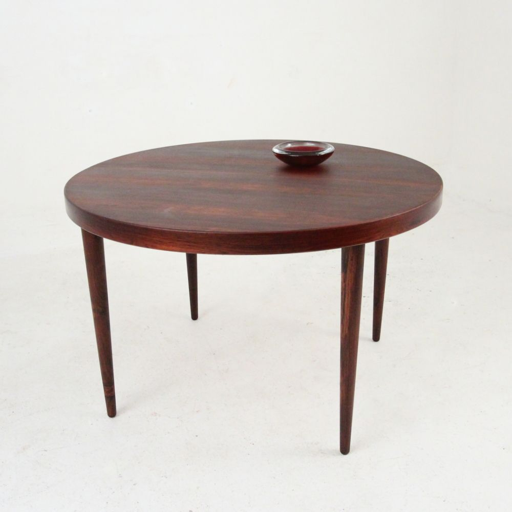 mid century round extendable rosewood dining table by kai