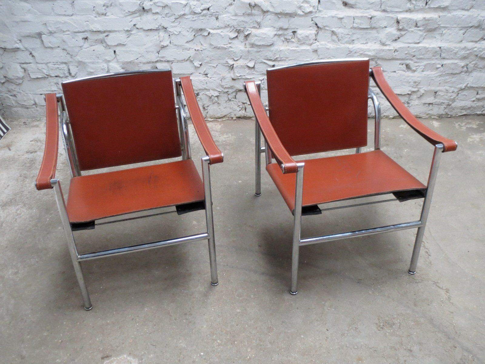 Italian Modernist Basculant Lc1 Chair By Le Corbusier
