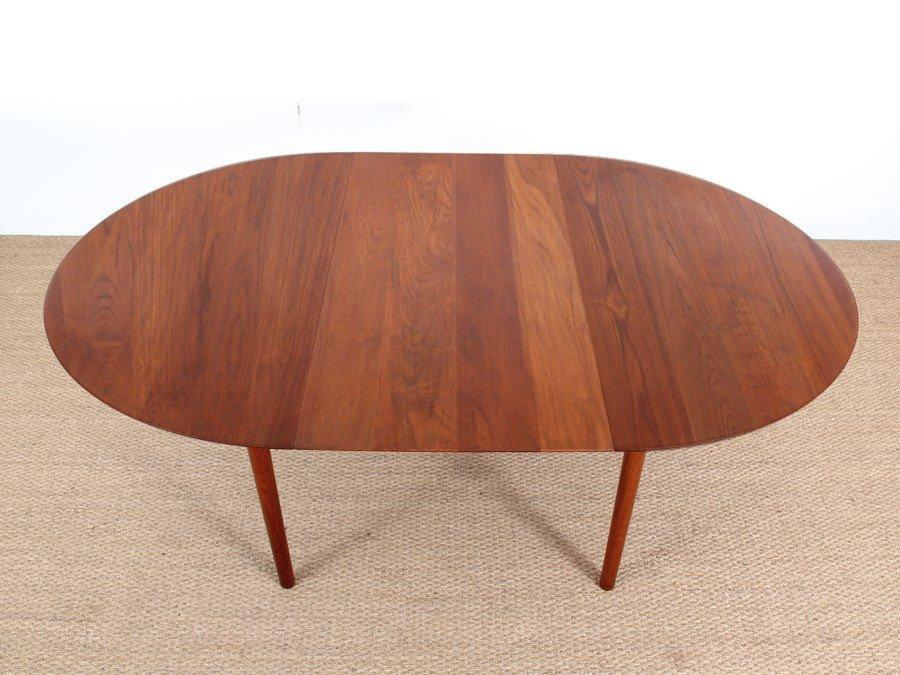 danish midcentury modern model 311 solid teak dining table by peter hidt u0026 olrla mlgaard nielsen for sborg mobelfabrik
