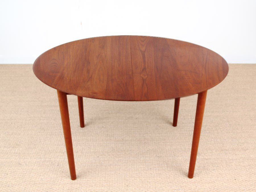 Danish Mid Century Modern Model 311 Solid Teak Dining Table By Peter Hidt U0026  Olrla Mølgaard Nielsen For Søborg Mobelfabrik, 1956 Amazing Design