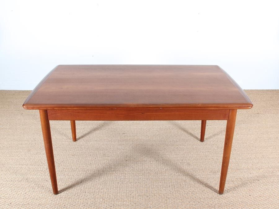 Modern Scandinavian Teak Dining Table 1950s For Sale At Pamono