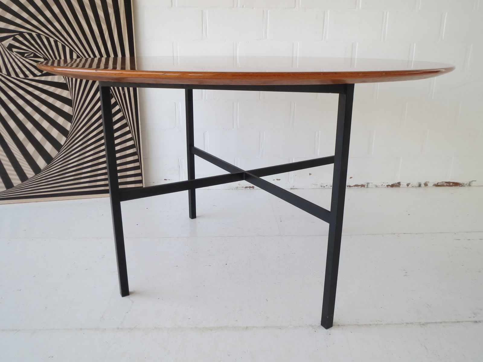 Vintage Belgian Teak Dining Table by Florence Knoll for sale at Pamono