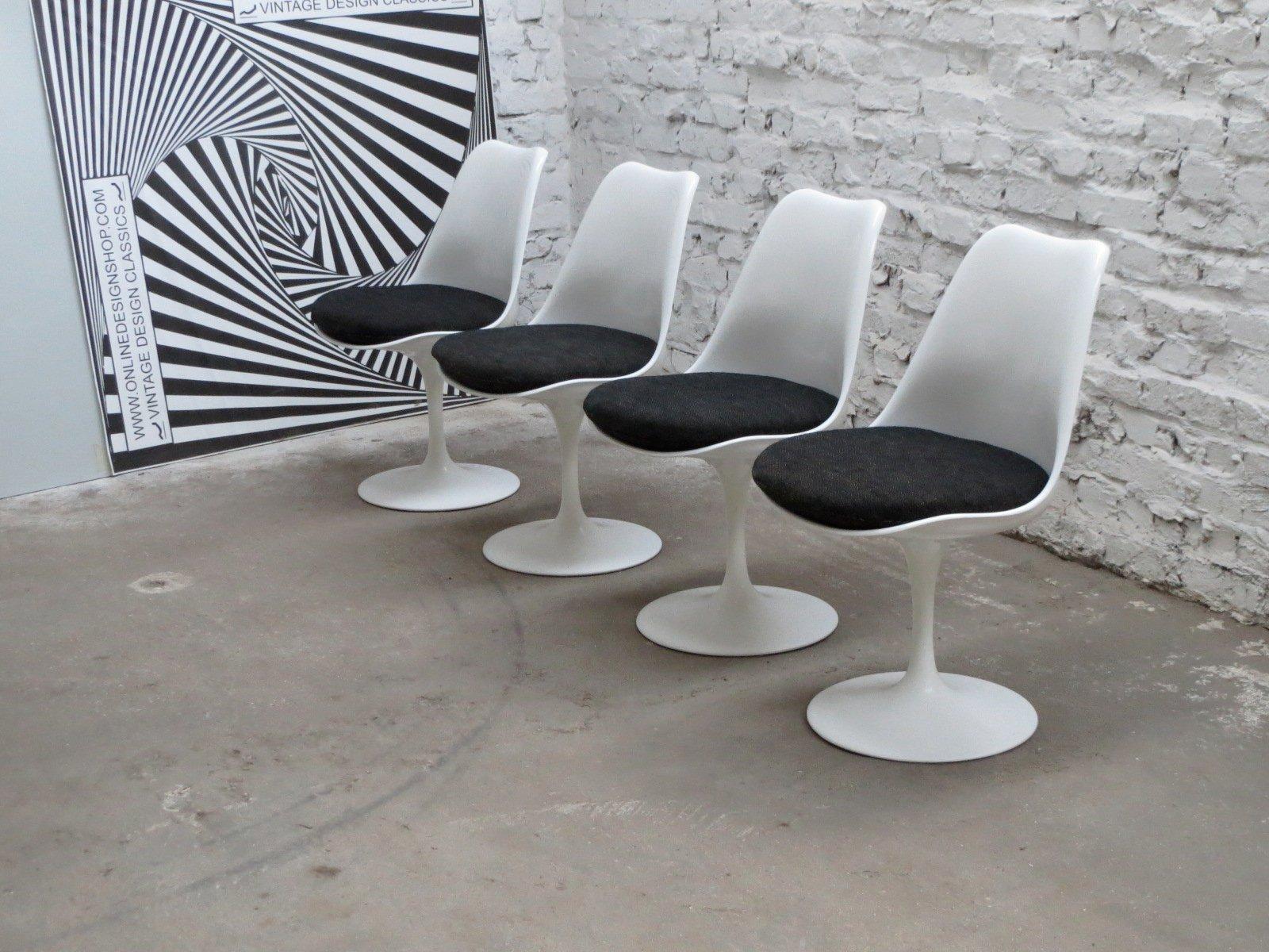 Non Swivel Tulip Chairs by Eero Saarinen for Knoll International