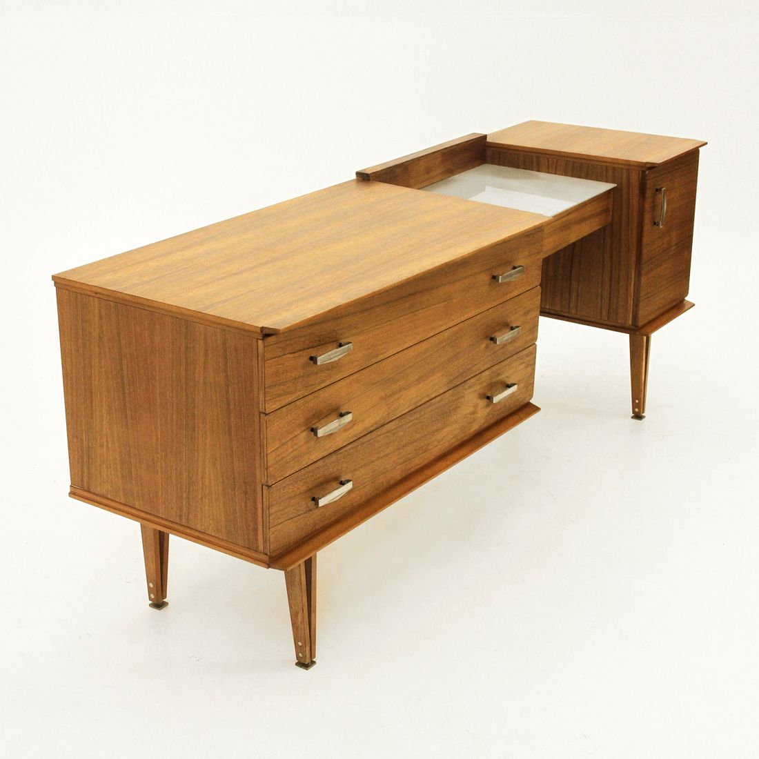 Italian dressing table with glass top s for sale at