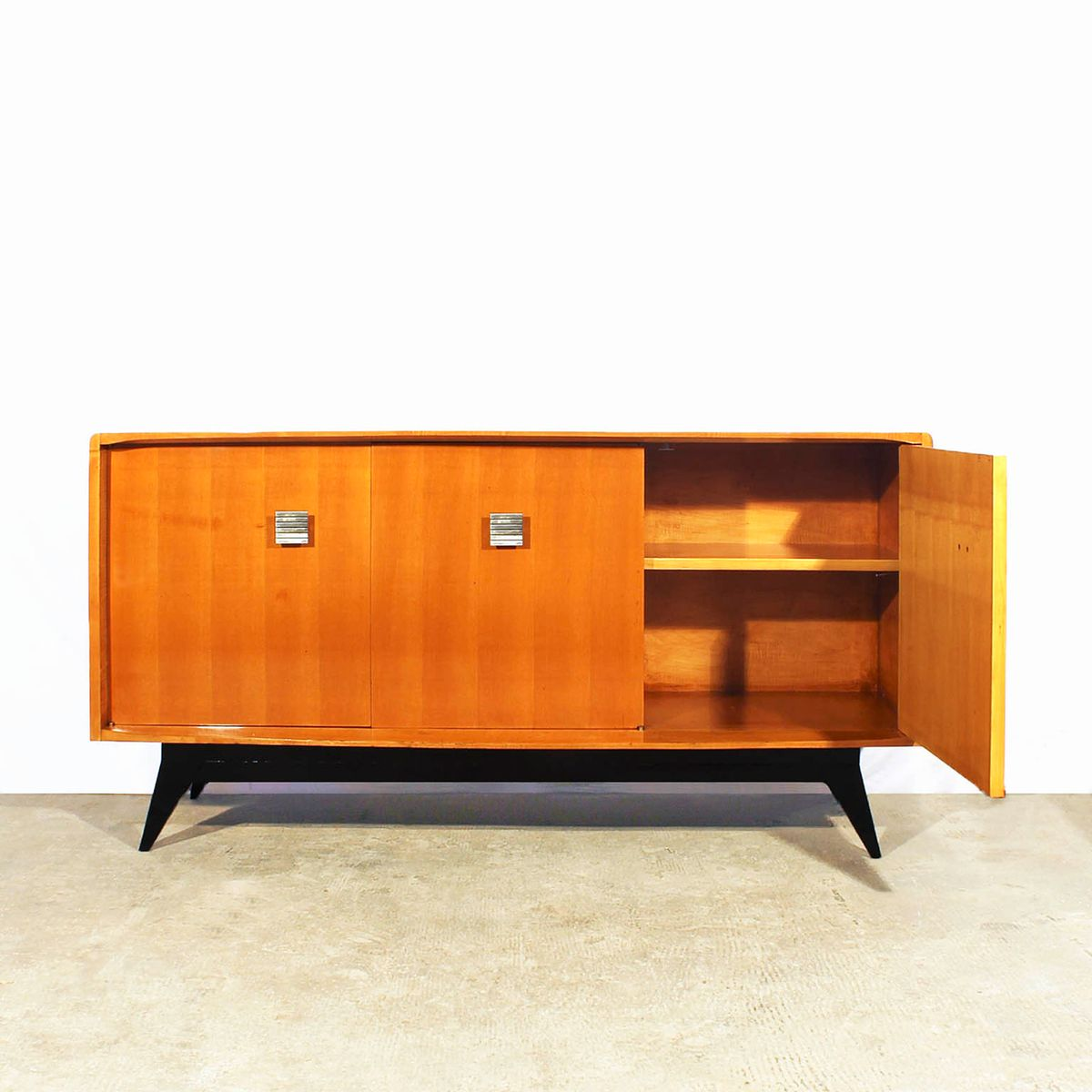 Small french cubist sideboard 1950s for sale at pamono for 1950 s credenza