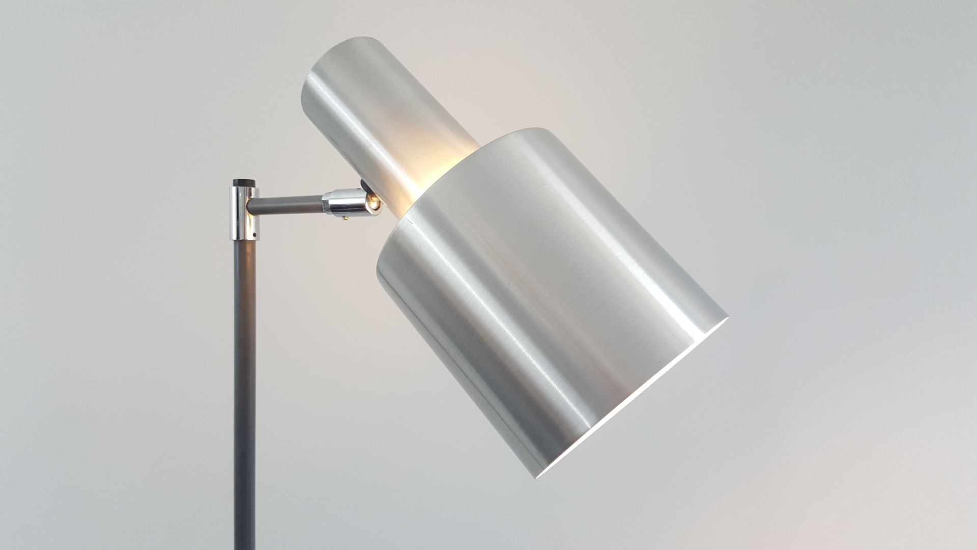 aluminium studio floor lamp by jo hammerborg for fog