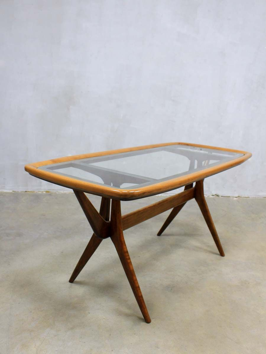 Walnut Glass Coffee Table By Cesare Lacca For Cassina 1950s For Sale At Pamono