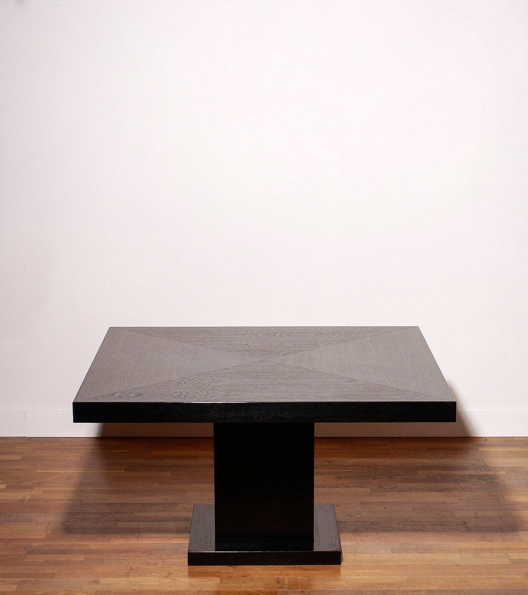 schwarzer esstisch mit eichenholz furnier 1970er bei. Black Bedroom Furniture Sets. Home Design Ideas