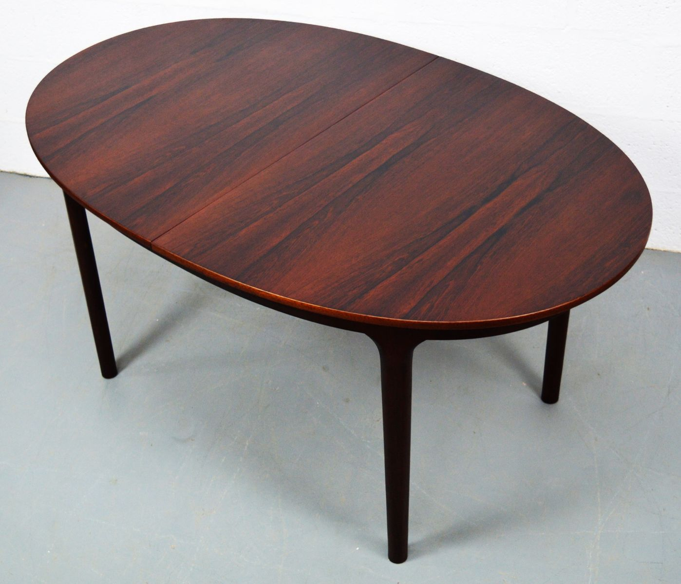 Table de salle manger ovale mid century rallonges en for Table salle a manger 3 rallonges
