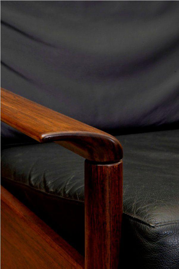 mid century lounge set aus holz leder bei pamono kaufen. Black Bedroom Furniture Sets. Home Design Ideas