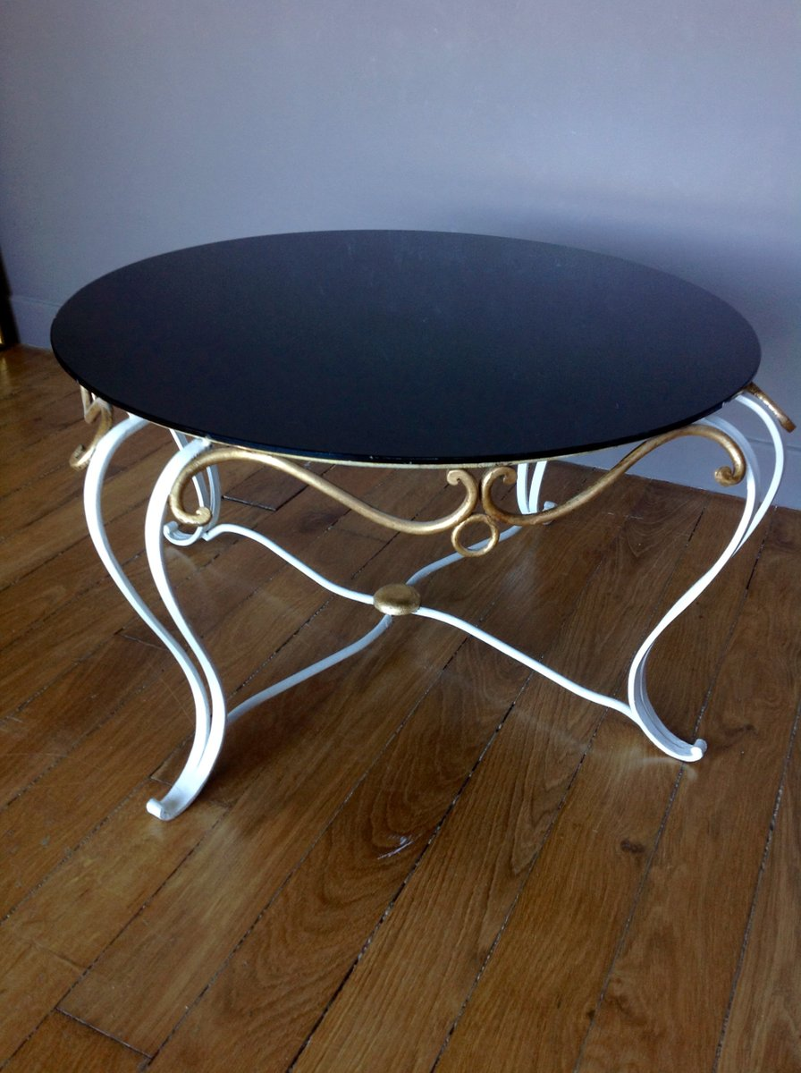 Wrought iron coffee table 1950s for sale at pamono for Wrought iron coffee table for sale