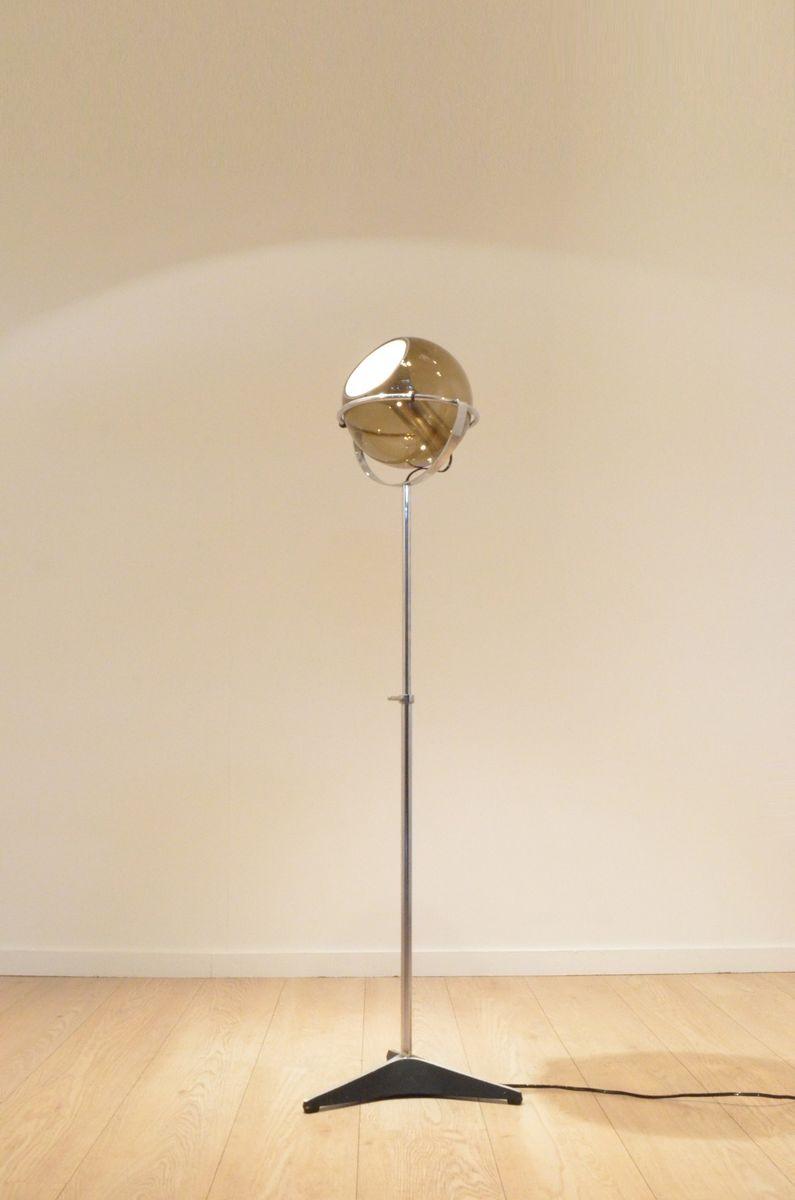 Adjustable globe 2000 floor lamp by frank ligtelijn for for 10 inch reflector floor lamp globe glass
