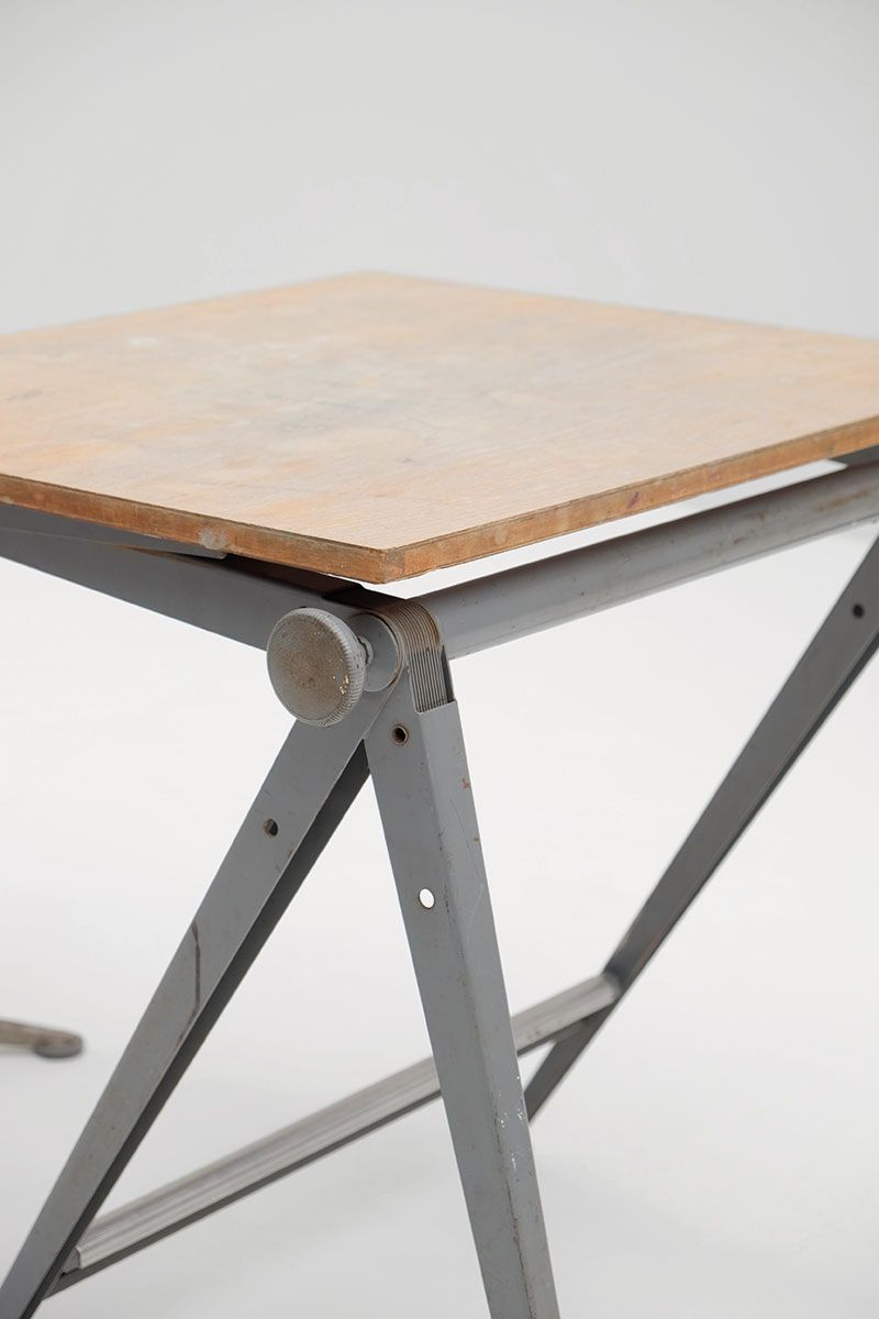 Mid Century Reply Drafting Table And Stool By Friso Kramer