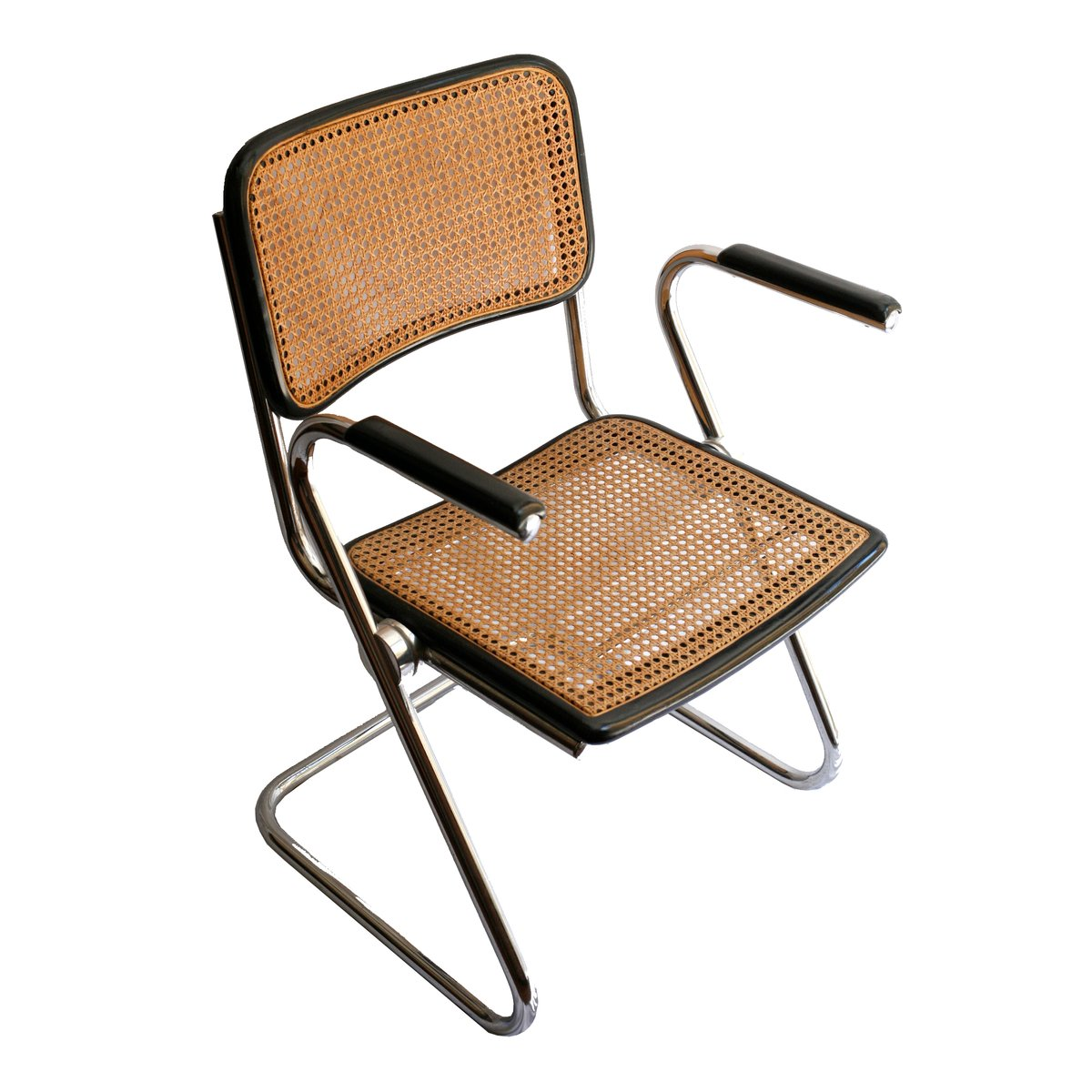 spanische vintage st hle aus metall mit geflochtenen sitzen 4er set bei pamono kaufen. Black Bedroom Furniture Sets. Home Design Ideas