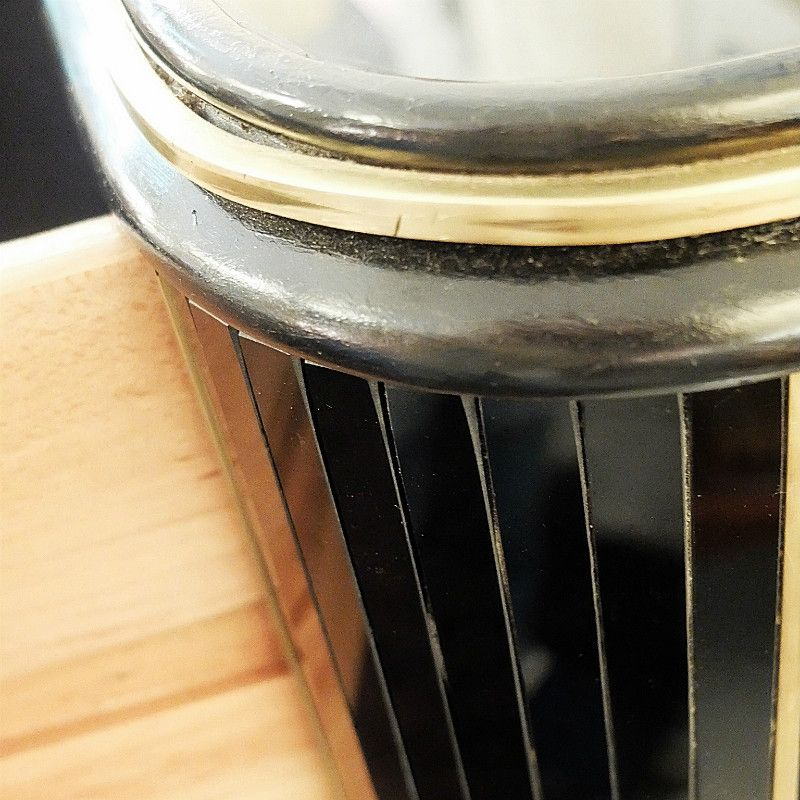 vintage black glass brass chest of drawers for sale at pamono