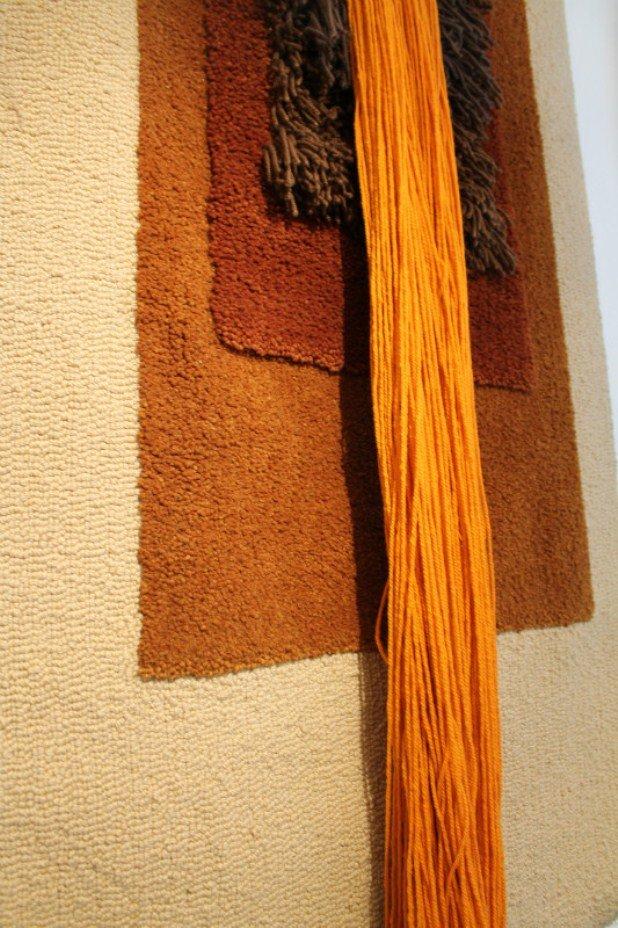 orangenfarbener vintage wandteppich bei pamono kaufen. Black Bedroom Furniture Sets. Home Design Ideas