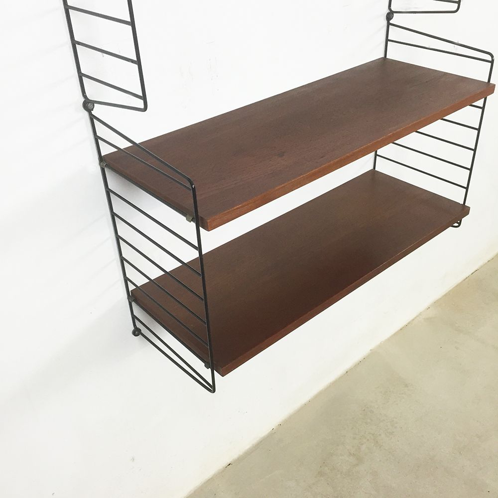 Swedish Mid Century Teak Wall Unit By Nisse Strinning For