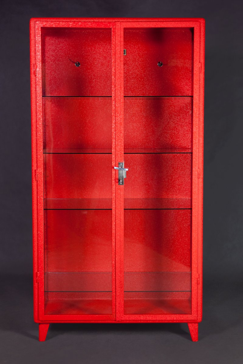 Polish Doctor's Medical Cabinet with Red Alligator Powder Coating ...