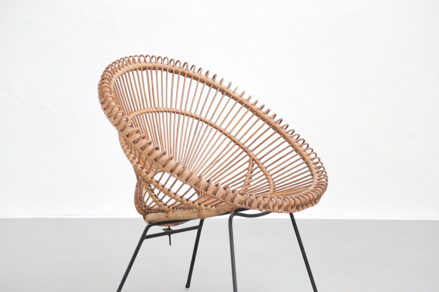 Mid Century Rattan Lounge Chair by Janine Abraham for sale