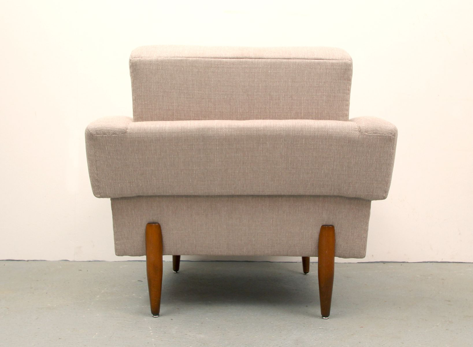 German Light Beige Club Chair 1950s for sale at Pamono