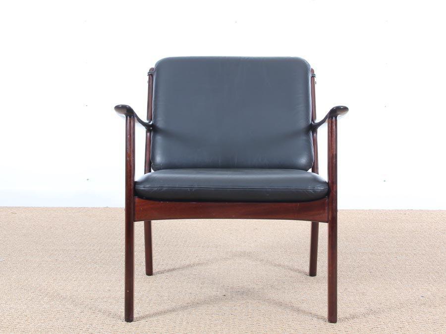 Modern lounge chair pj 112 by ole wanscher modern lounge danish modern - Mid Century Modern Pj 112 Lounge Chairs By Ole Wanscher