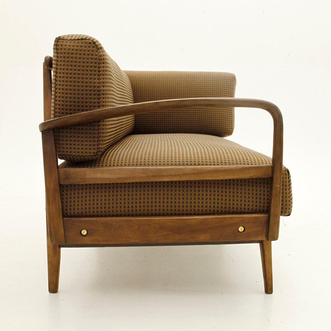 Italienisches Sofa Mit Holzgestell 1950er Bei Pamono Kaufen