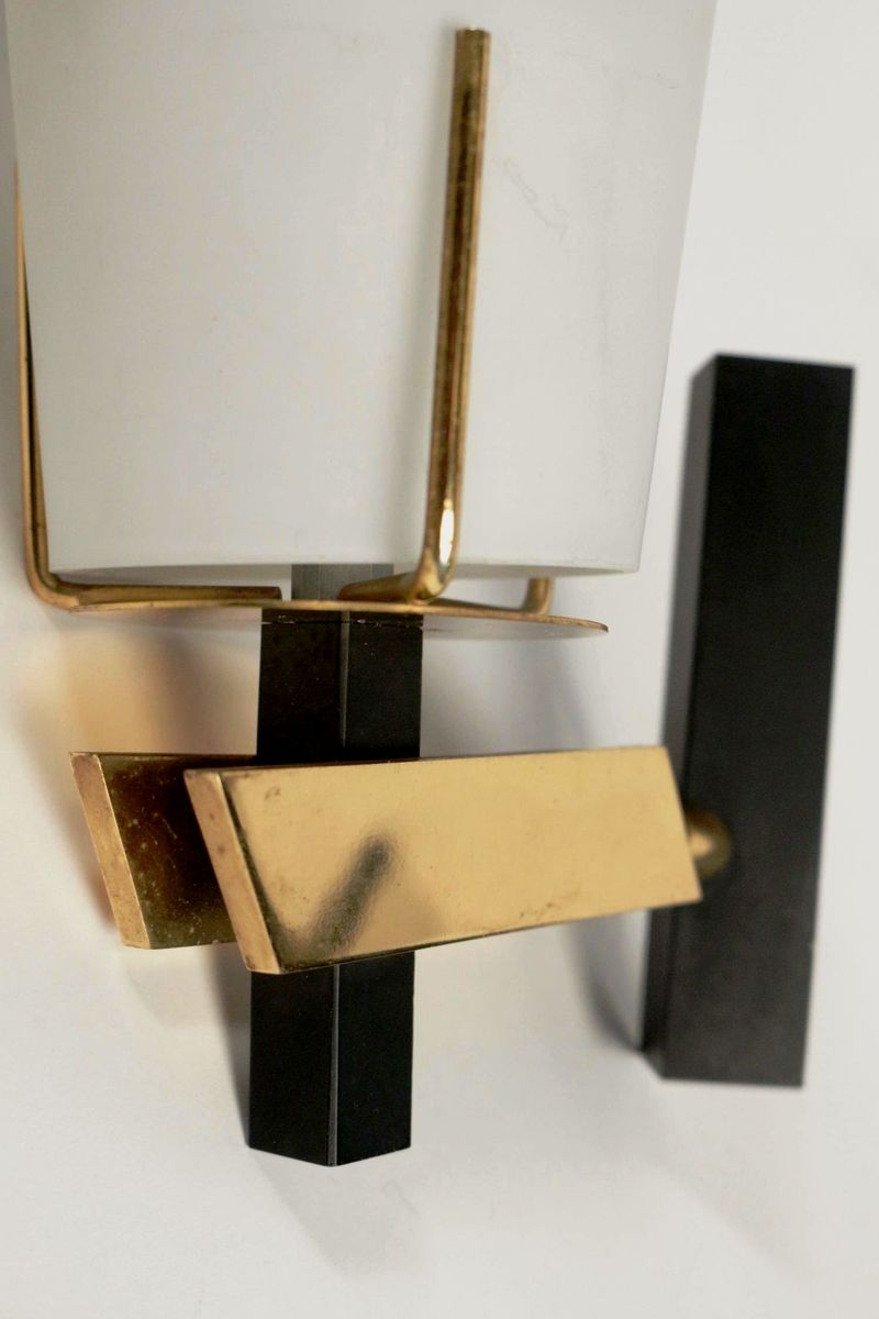 Wall Sconces Set Of 2 : Italian Wall Sconces from Stilnovo, 1950s, Set of 2 for sale at Pamono