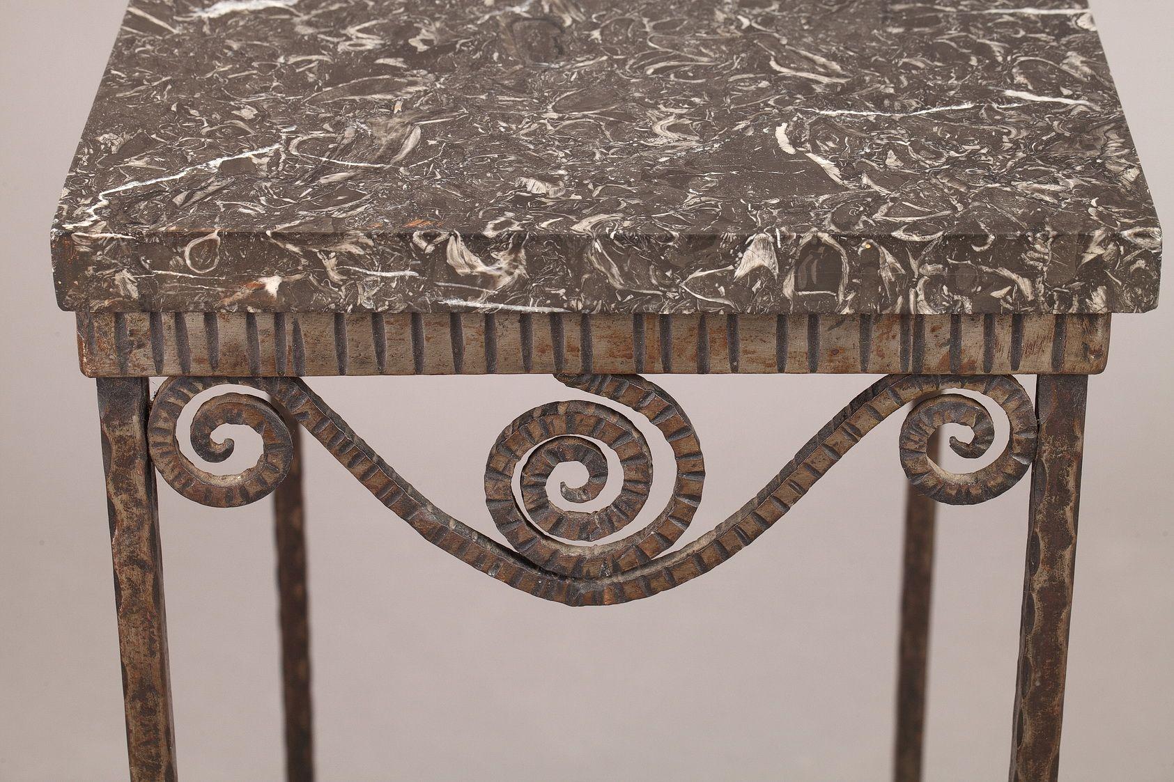 Petite table art d co en fer forg 1930s en vente sur pamono - Petite table en fer forge ...