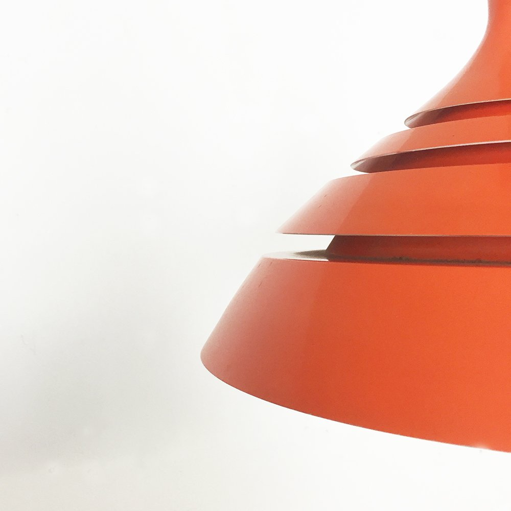 Orange hanging lamp - Modernist Scandinavian Orange Hanging Lamp 1960s 10 1 040 00 Price Per Piece